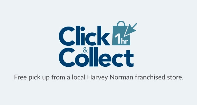 You can pick your product up in just 1 Hour with Harvey Norman's 1 Hour Click & Collect