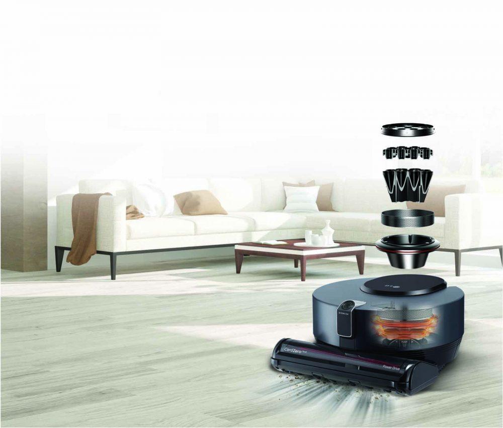 LG CordZero R9 Robotic Vacuum Smart Inverter Motor