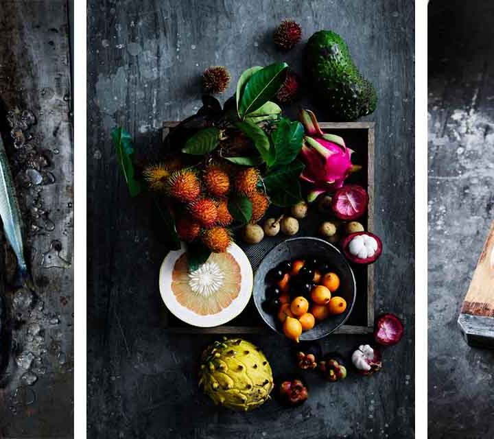 Winning food from the Sea, Paddock and Earth categories of the 2020 delicious Harvey Norman Produce Awards.