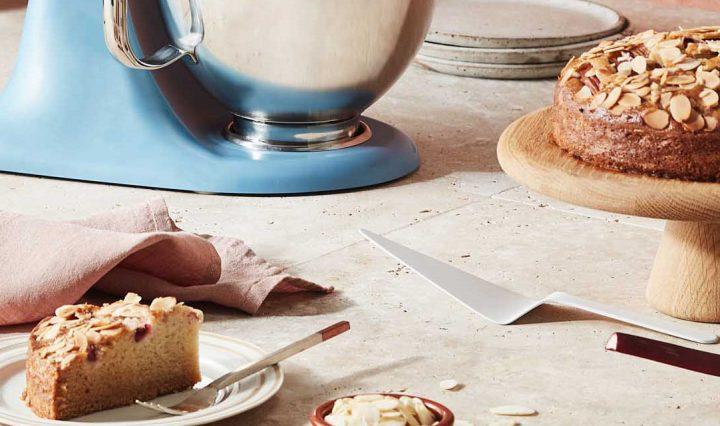 A Vegan Rhubarb & Almond Tea Cake Recipe