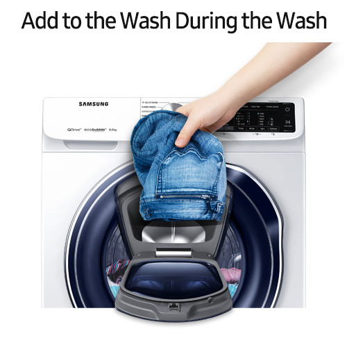 AddWash lets you add clothes to the Samsung QuickDrive Washer mid-wash