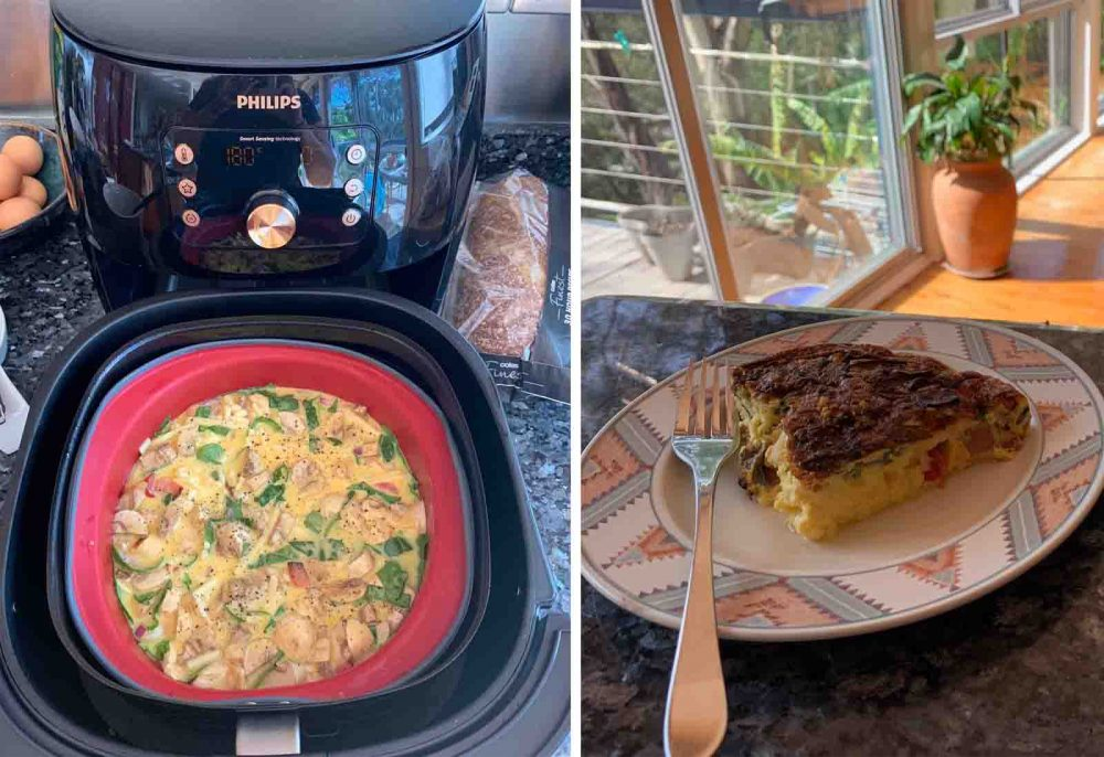 Breakfast Frittata cooked in the Philips Smart XXL Airfryer.