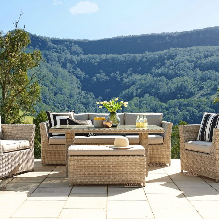 Belbora Wicker Outdoor Lounge Dining Setting