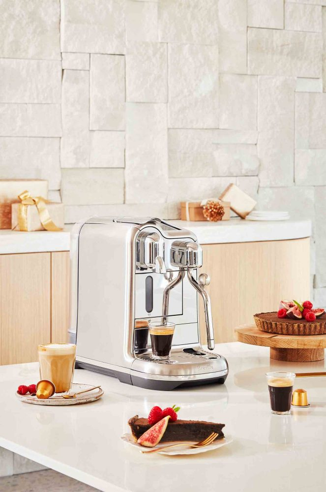 Breville Coffee Machine and a Chocolate Espresso Tart