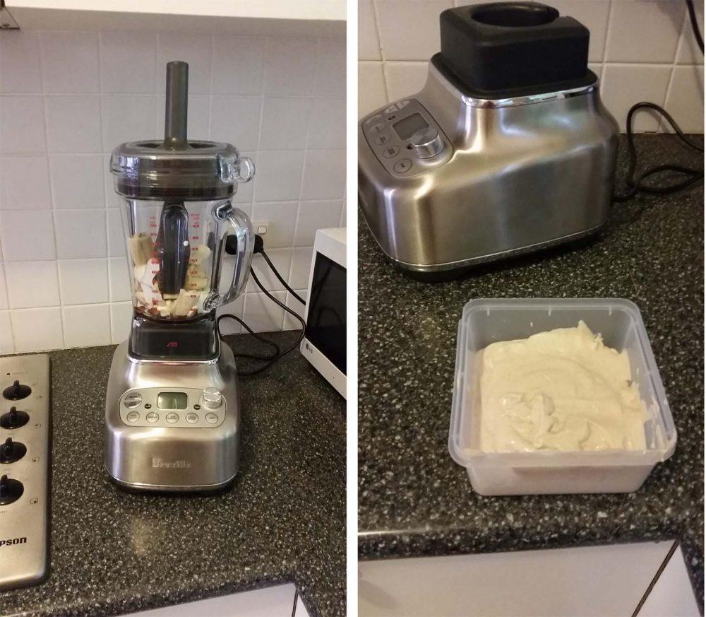 Making Frozen Yoghurt with the Breville Super Q Blender