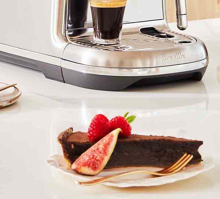 Chocolate Espresso Tart and serves of coffee.