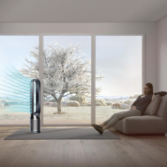Black Dyson Pure Cool in Diffused Mode