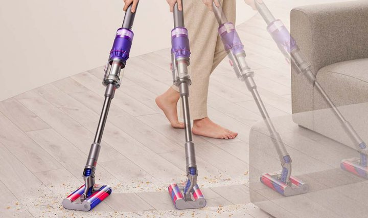 A graphic showing the Dyson Omni-glide in motion.