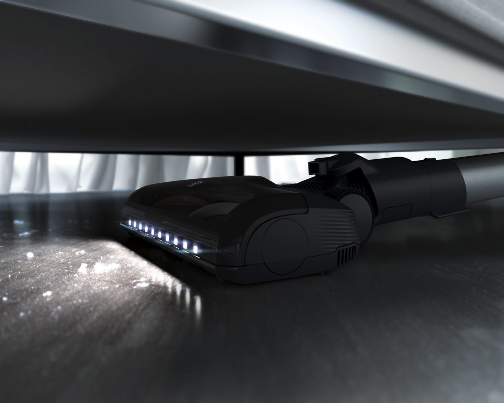 Electrolux Pure F9 Vacuum cleaning under a bed