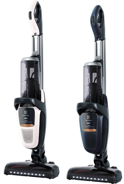 The Electrolux Pure F9 Vacuum is available in White or Blue