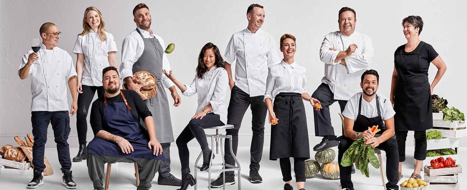 The 10 Australian Chefs who will be participating in Gourmet Institute 2020.