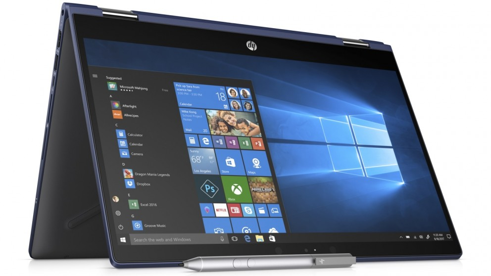 The HP Pavilion X360 Modern PC in Tablet Mode