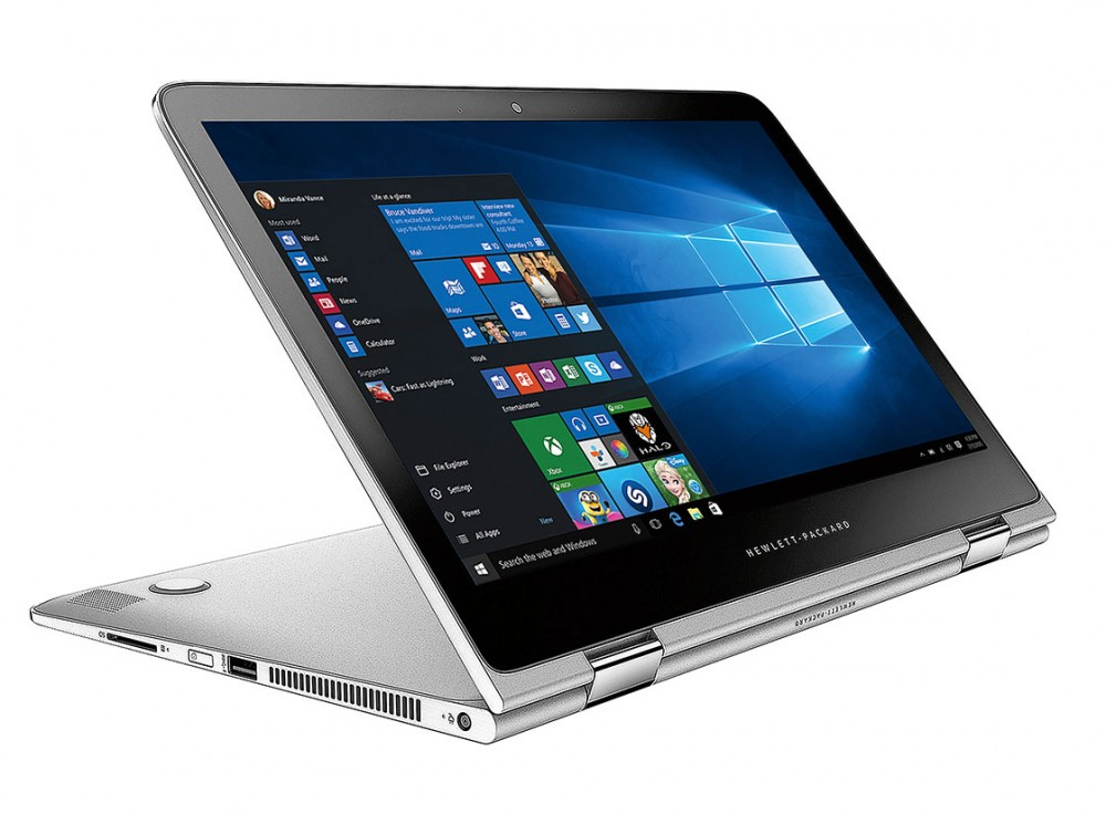 Prop up the HP Spectre x360 convertible laptop with the keyboard or use it like a tablet on your lap.