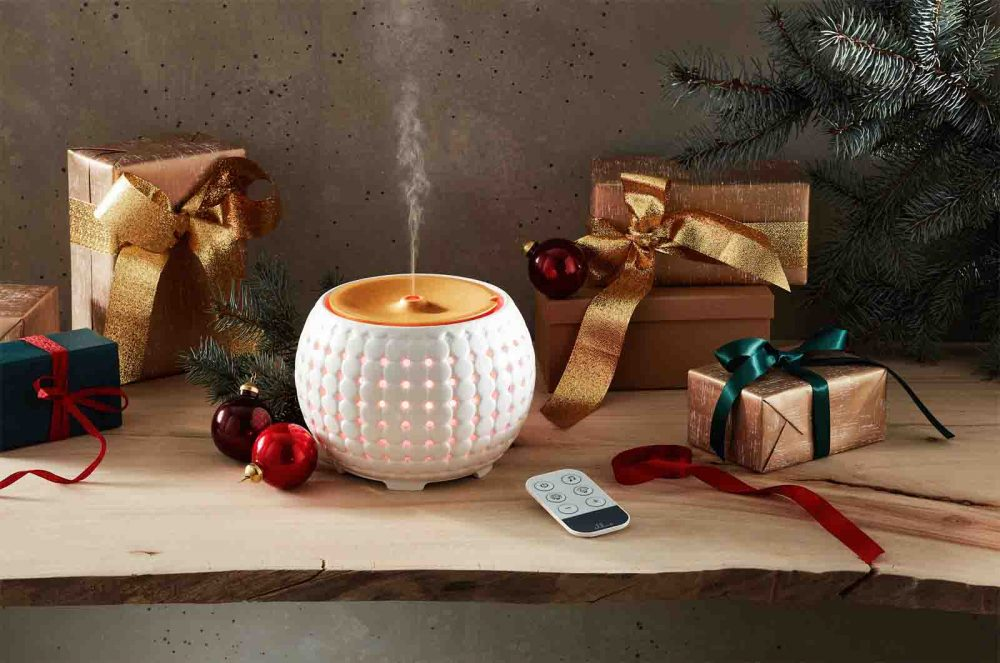 HoMedics Ellia Gather Ultrasonic Aroma Diffuser along with other Christmas gifts.