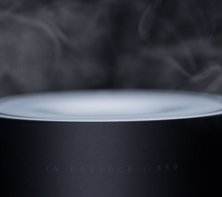 The In Essence 360 Diffuser with a dark background.