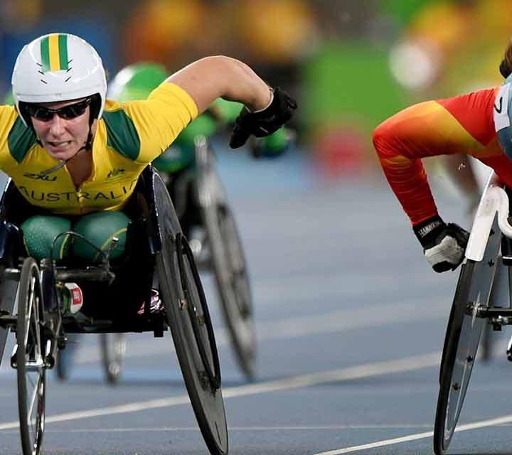 Christie Dawes putting on an incredible racing display.