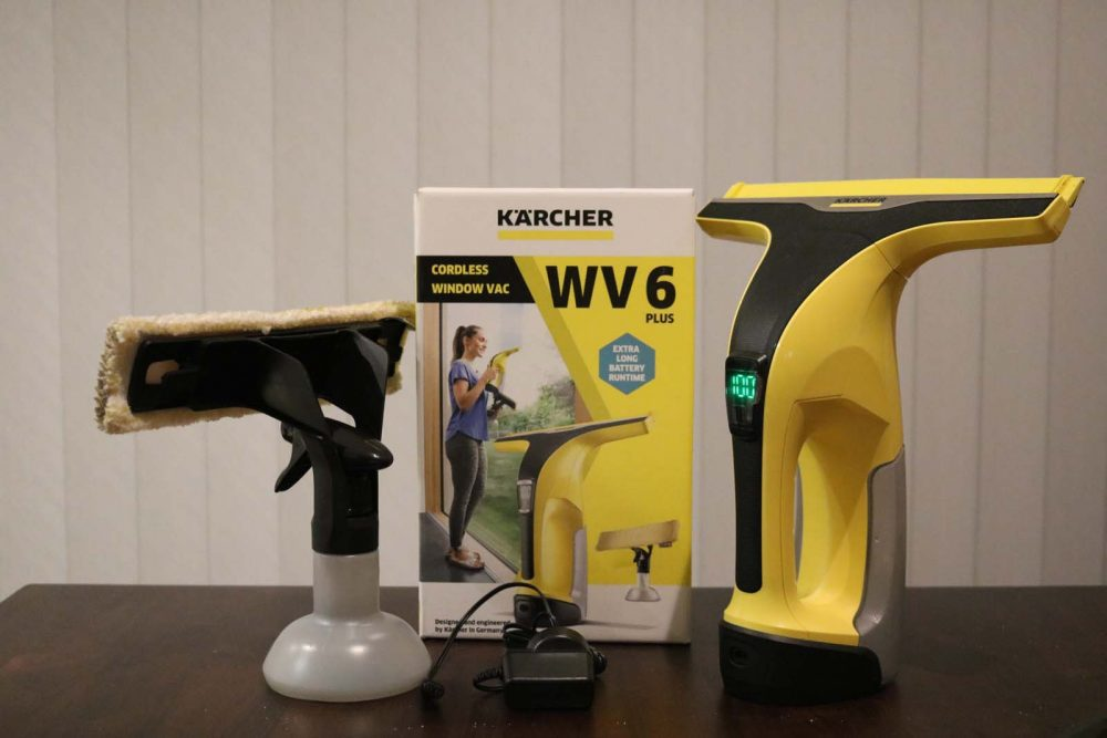 The Karcher WV6 Kit unboxed.