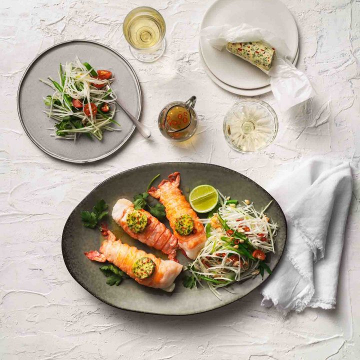 Lobster with Chilli & Coriander Butter recipe