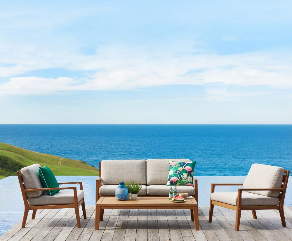 Louie Timber Outdoor Lounge Setting