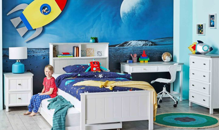 Luna Storage Bed Head for Kids