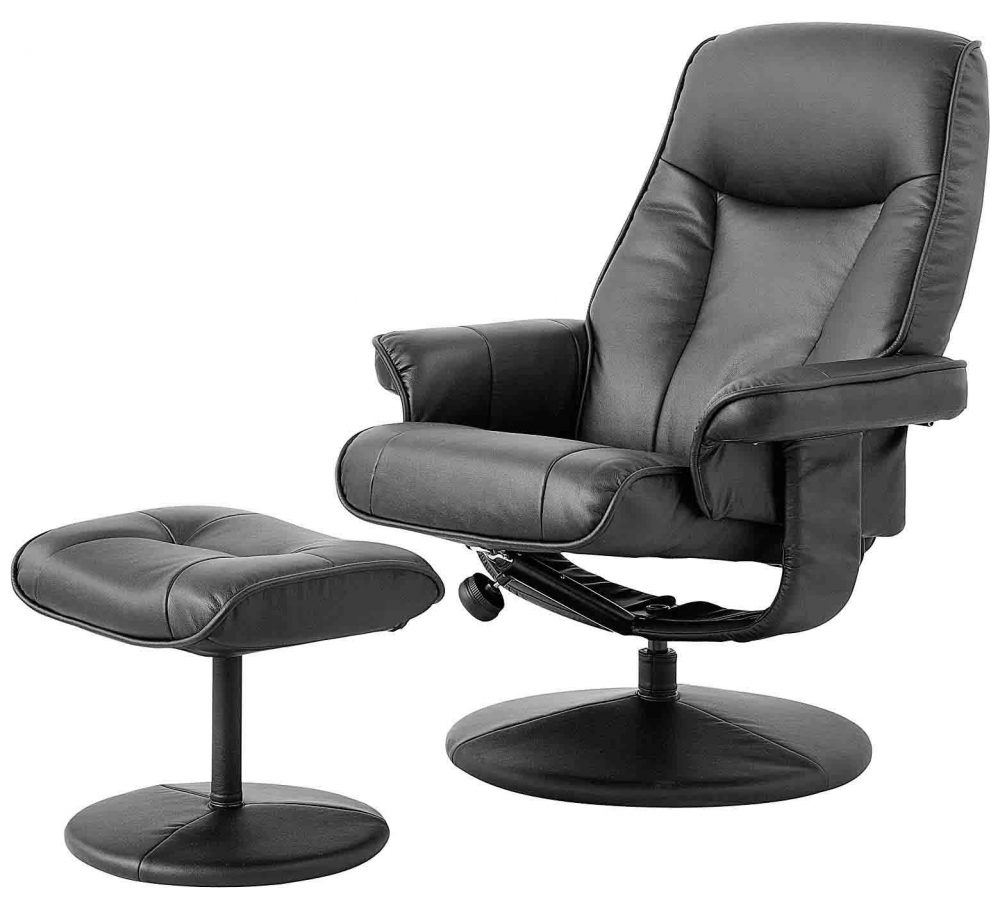Lusso PU Recliner and Footstool