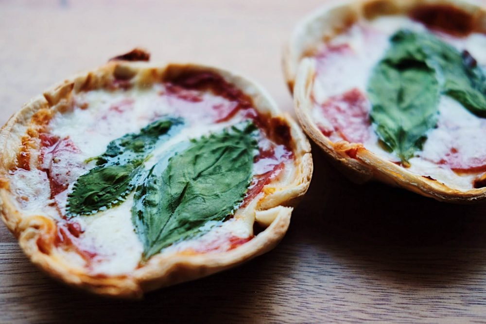 Mini Pie Maker Pizzas.