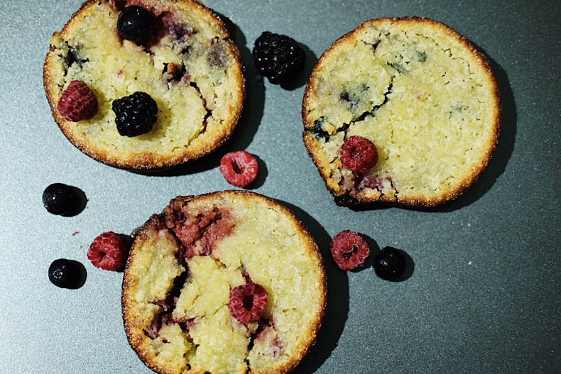 Mixed Berries Friands made with a pie maker.