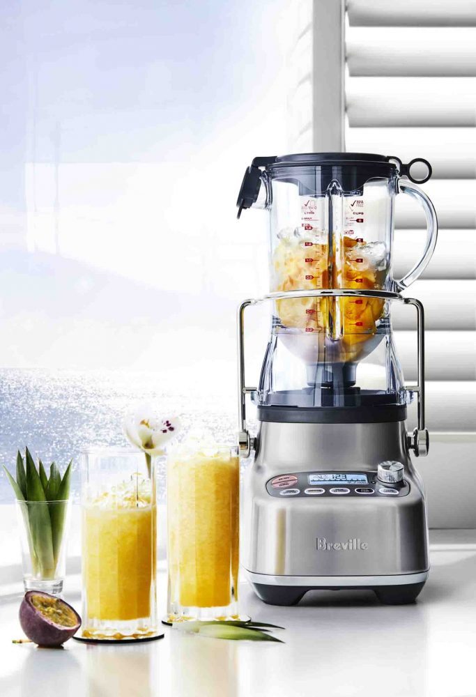 Passionfruit and Pineapple Crush drink created in Breville The 3X Bluicer.