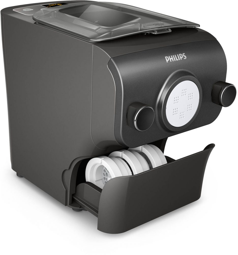 Philips Pasta & Noodle Maker drawer for utensils, cutting tools and discs.