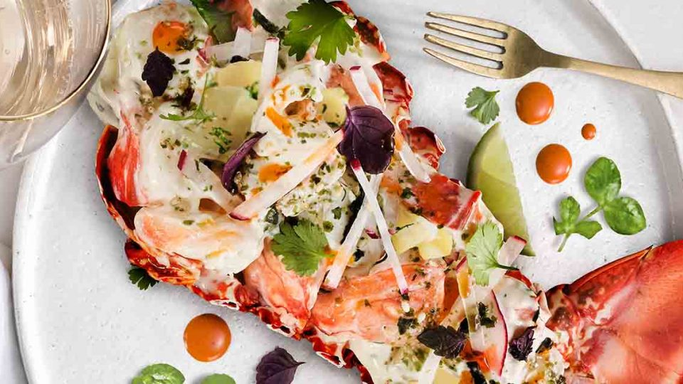 Our recipe for Grilled Lobster and Steamed Kipfler.
