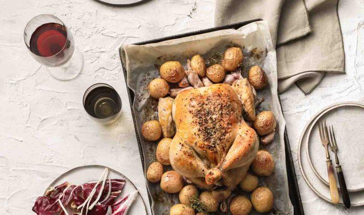 Roast Chicken with 40 Cloves of Garlic
