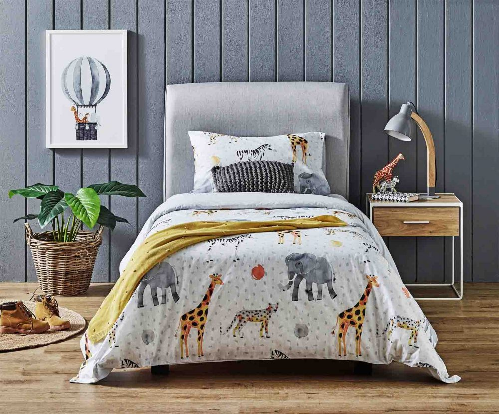The 'Savannah' Quilt Cover Set for kids.