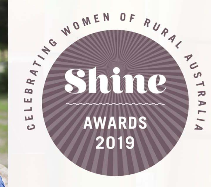 Lisa D'Onofrio, 2018 Shine Award Winner & Shine Awards 2019 Logo