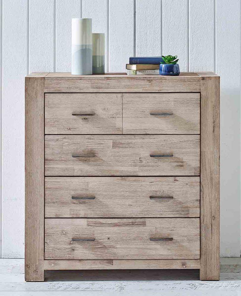 Sienna 4-Drawer Timber Tallboy.