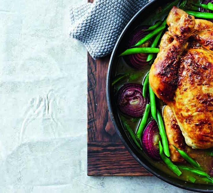Spice-Rubbed Pot Roast Chicken Recipe