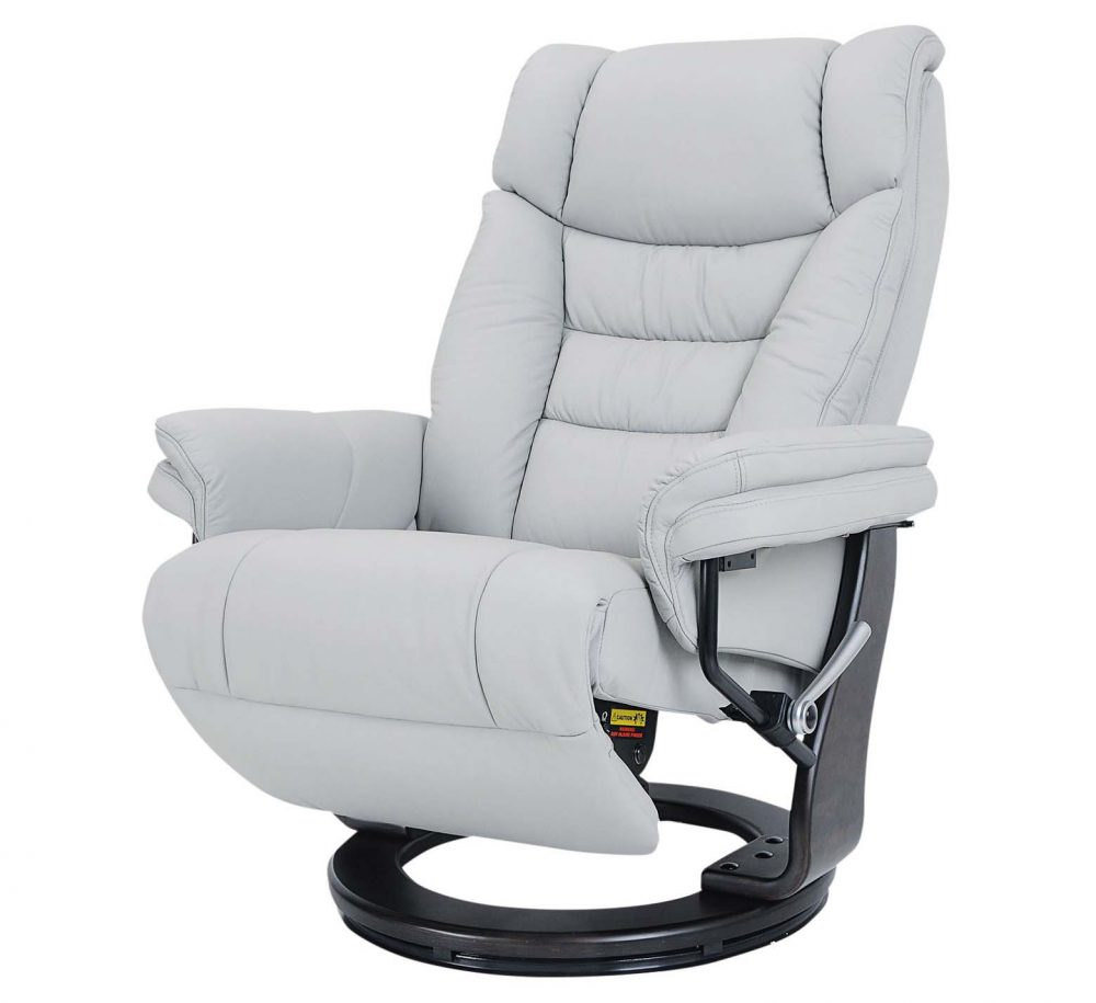 Sven Leather Swivel Recliner