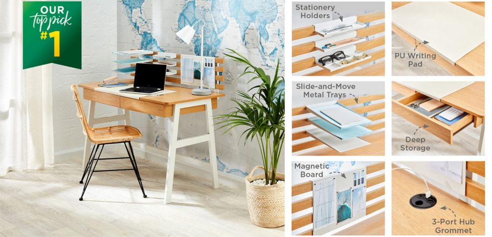 The Kitson Desk is our #1 Top Pick for Home Office Furniture
