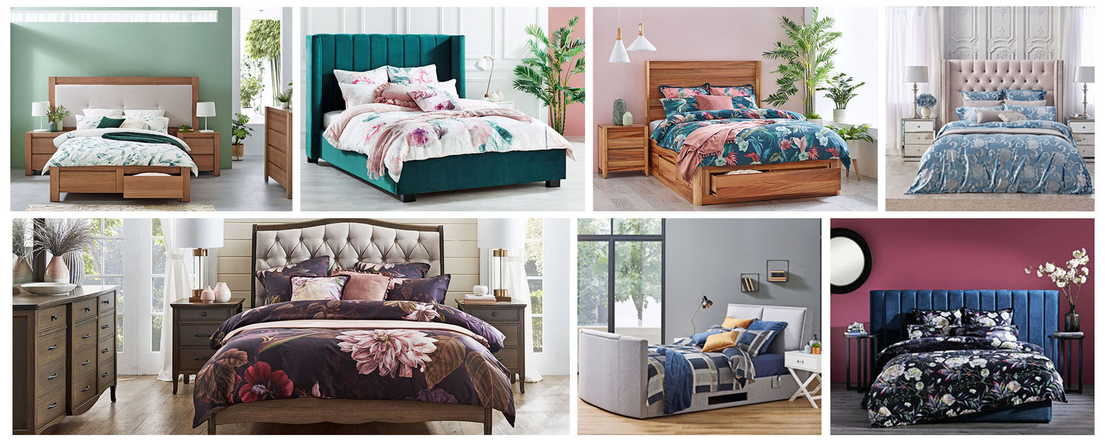 A selection of Harvey Norman's on-trend winter bedding options.