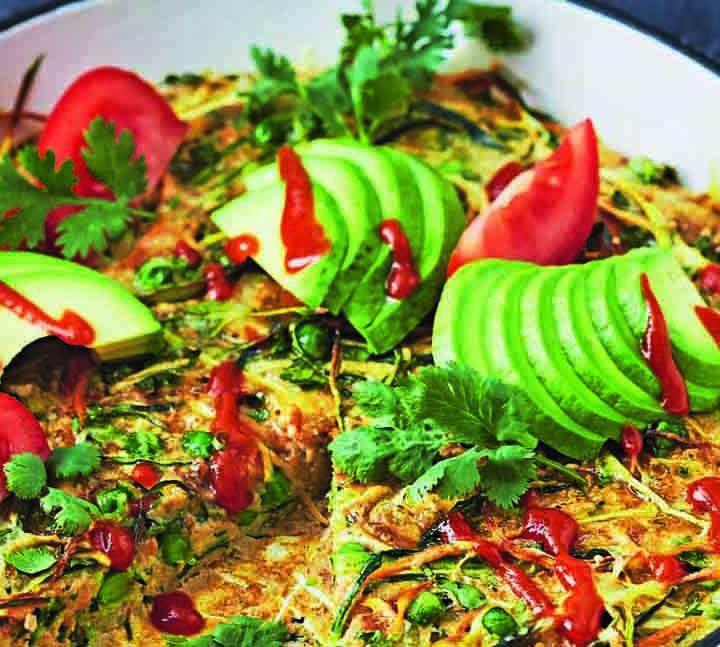 Zucchini and Pea Slice Recipe