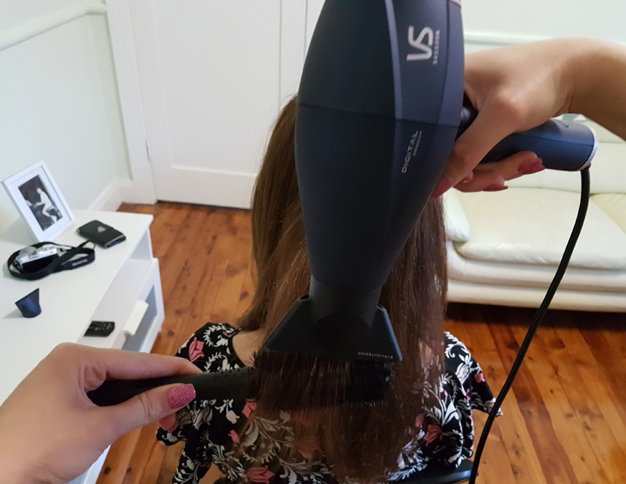 VS Hair Dryer In Action