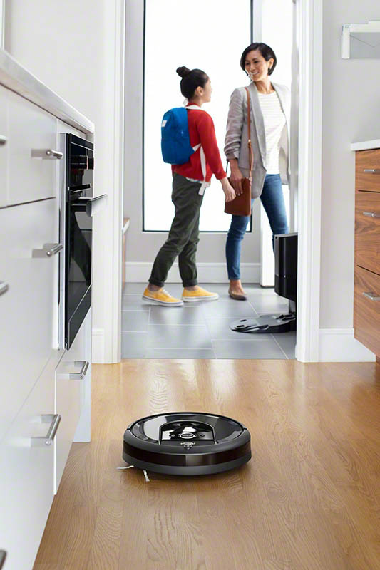 iRobot Roomba i7+ cleaning the house