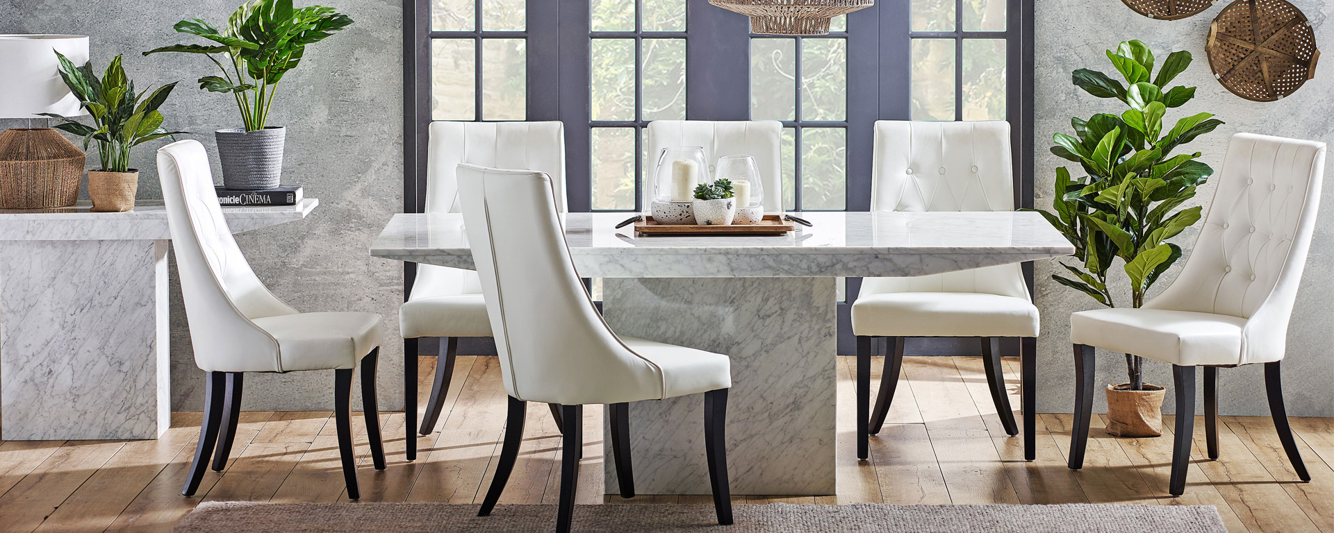Dining Room Goals 5 Trending Concrete And Stone Dining Looks Harvey Norman Australia