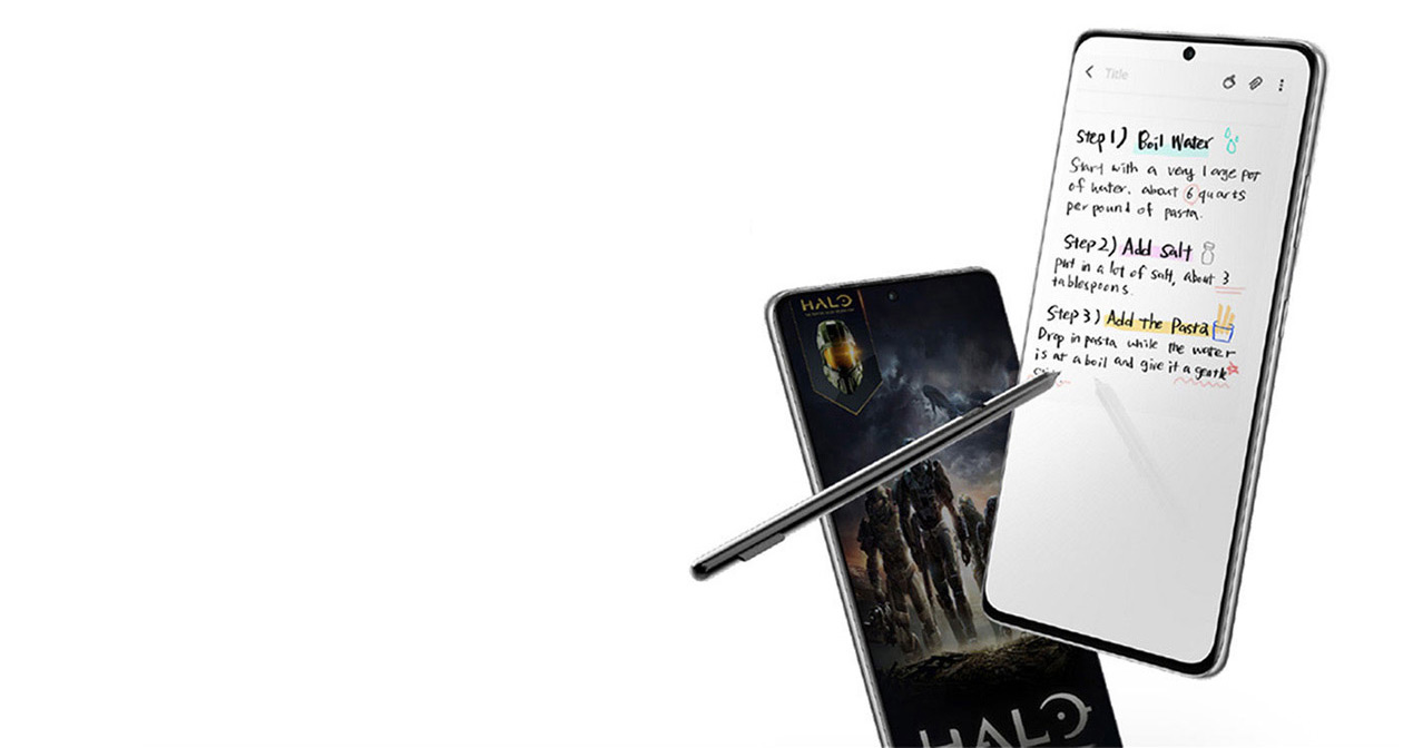 Samsung Galaxy S21 works with an S Pen